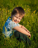 Little boy sitting Stock Photo