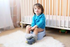 Little boy sitting on potty Royalty Free Stock Photo
