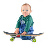 Little boy on a skateboard Stock Photography