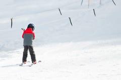 Little boy skiing Royalty Free Stock Photos