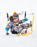Little boy skiing Royalty Free Stock Photo