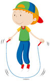 Little boy skipping the rope Stock Photography