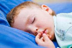 Little boy sleeping Royalty Free Stock Photo