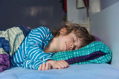 Little Boy Sleeping royalty free stock images