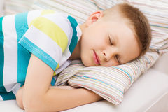 Little boy sleeping at home Royalty Free Stock Image