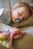 Little boy sleeping at home Stock Photos