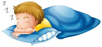 A little boy sleeping stock illustration