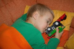 The little boy sleeping. Stock Photography