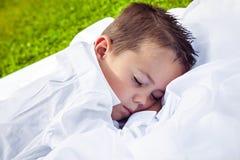 Little boy sleeping sweetly Royalty Free Stock Image