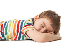 Little boy sleeps Stock Photography