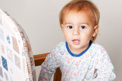 Little boy in a sleepwear Stock Photo