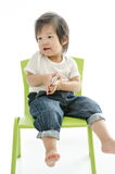 Little boy with smart phone Royalty Free Stock Photos