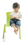 Little boy with smart phone Royalty Free Stock Images