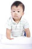 Little boy smile and do activity something Stock Image