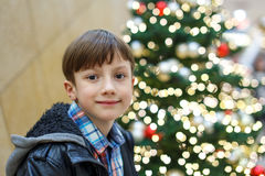 Little boy smile in mall Royalty Free Stock Images