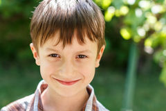 Little boy smile at outdoor Stock Photography
