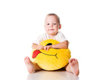 Little boy with the smiley Royalty Free Stock Image