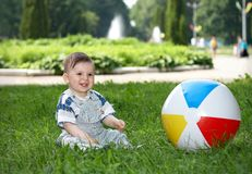 Little boy smiling Stock Photography
