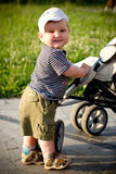 Little boy smiling. And standing Stock Image