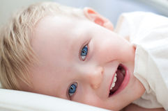 Little boy is smiling Royalty Free Stock Photo