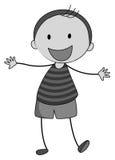 Little boy smiling alone. Illustration Royalty Free Stock Photo