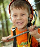 Little Boy Smiling In Adventure Park Stock Photography