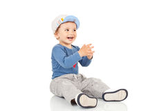 Little boy smiling and looking a side Royalty Free Stock Image