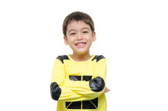 Little boy smiling portrait isolate on white background Stock Photo