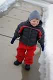 Little Boy in Snow Suit Stock Photography
