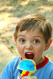 Little Boy snowcone Royalty Free Stock Images
