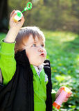 Little boy with soap bubbles Royalty Free Stock Photography