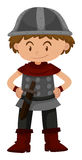 Little boy in soldier costume. Illustration Royalty Free Stock Photos