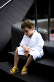 Little Boy at Spa Royalty Free Stock Images