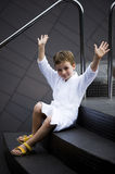 Little Boy at Spa Royalty Free Stock Image