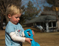 Little Boy am Spiel Lizenzfreies Stockbild