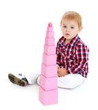 Little Boy-Spielen Stockbild