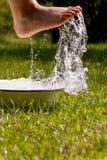 Little boy and splash stock image