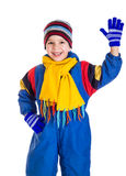 Little boy in sports overalls Stock Photo