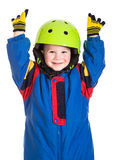Little boy in sports overalls Stock Image