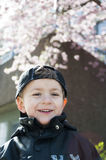 Little boy in spring Stock Photos