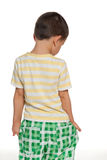 Little boy stands back Royalty Free Stock Photo