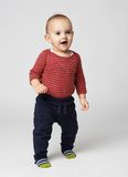Little boy stares up. Cute little boy stares up Royalty Free Stock Photo
