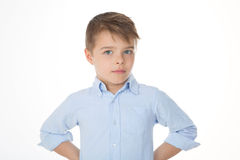 Little boy staring Stock Image