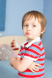 Little boy starting to be offended Royalty Free Stock Photography