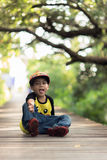 A little boy stay alone. Portraits children stay alone into the wild Royalty Free Stock Photos