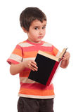 Little boy stops of wondering Royalty Free Stock Photo
