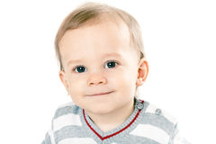 Little boy in strip pullover Stock Images