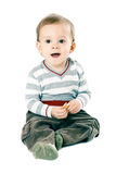 Little boy in strip pullover Royalty Free Stock Image
