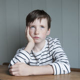 Little boy in striped shirt Royalty Free Stock Image