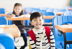 Little boy student  in the classroom Royalty Free Stock Photography